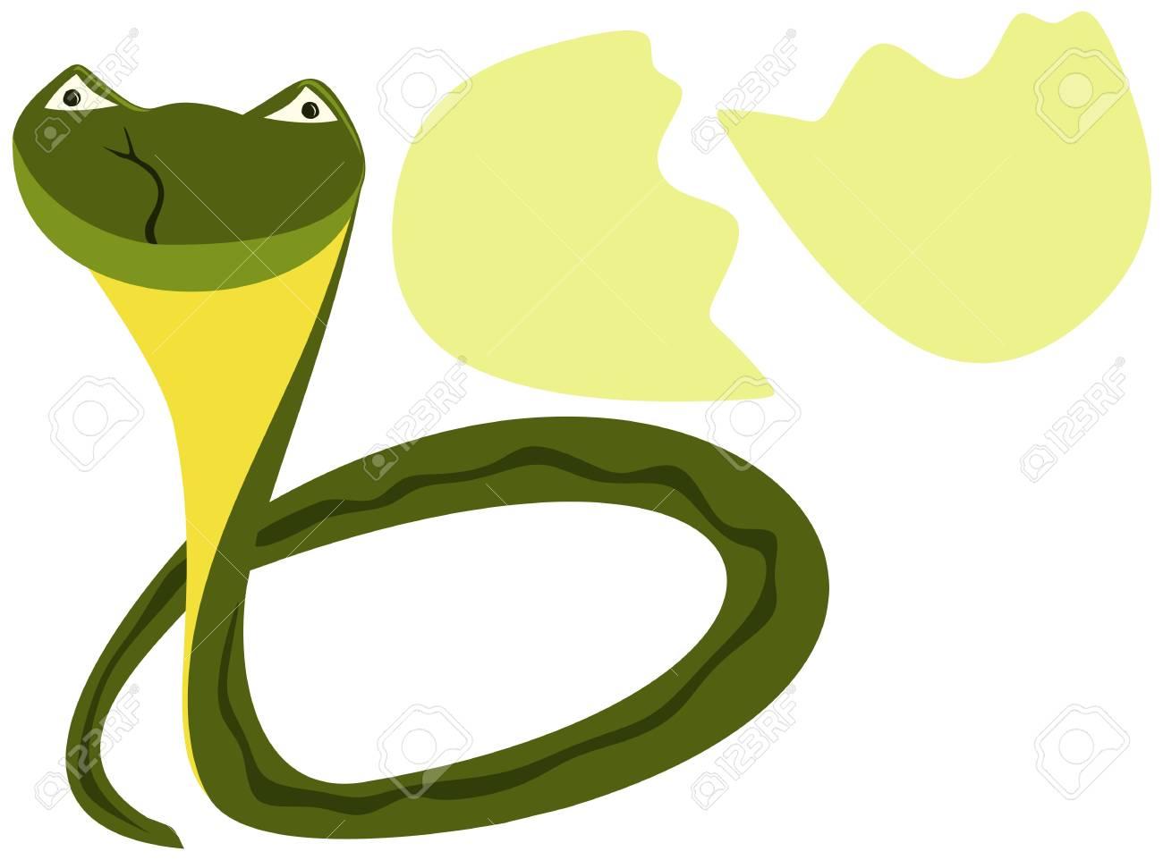 Cute newborn snake, symbol of 2013 Stock Vector - 15778022