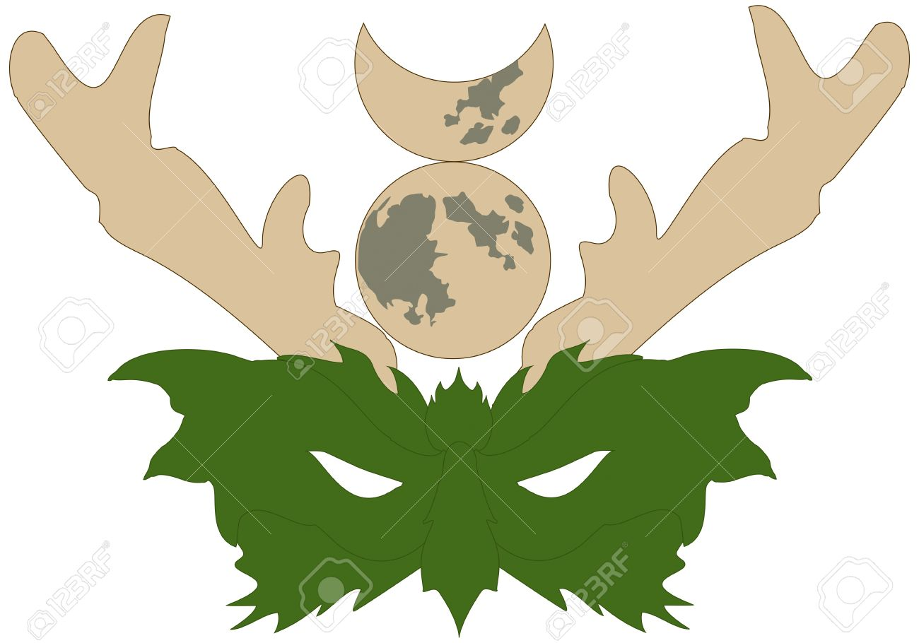 Mask of the wiccan horned god or green man royalty free cliparts mask of the wiccan horned god or green man stock vector 18775739 biocorpaavc Choice Image
