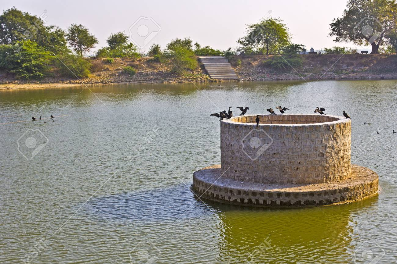 Sacred lake Gopi Talav close to Dwarka, Gujarat