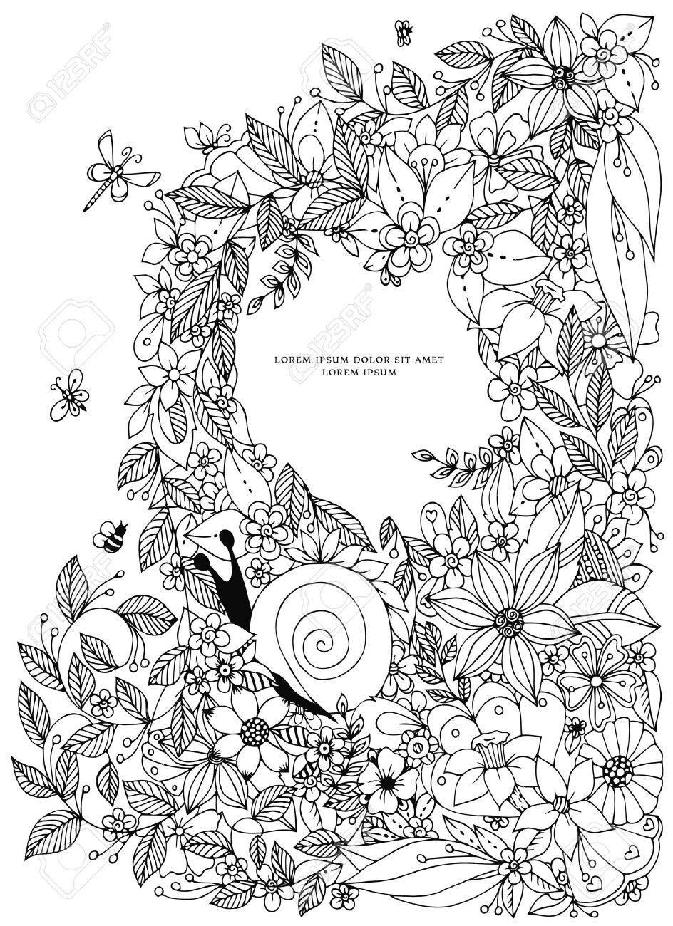seashell border frame ocean pattern vintage illustration