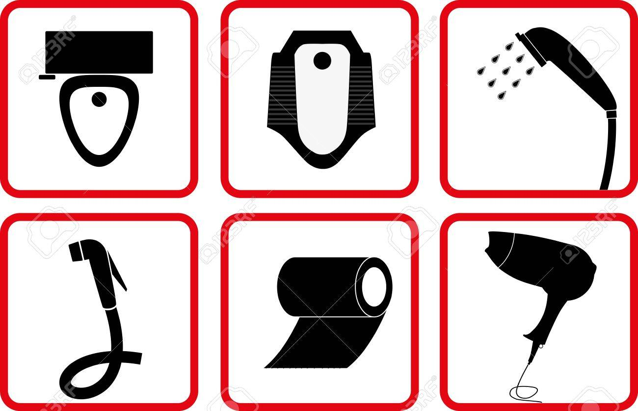 Toilet signs vector set stock images image 36323784 - Toilet And Bathroom Accessory Icon Set Royalty Free Cliparts 10434049 Toilet And Bathroom Accessory Icon Set Stock Vector Photo 10434049 Toilet And Bathroom