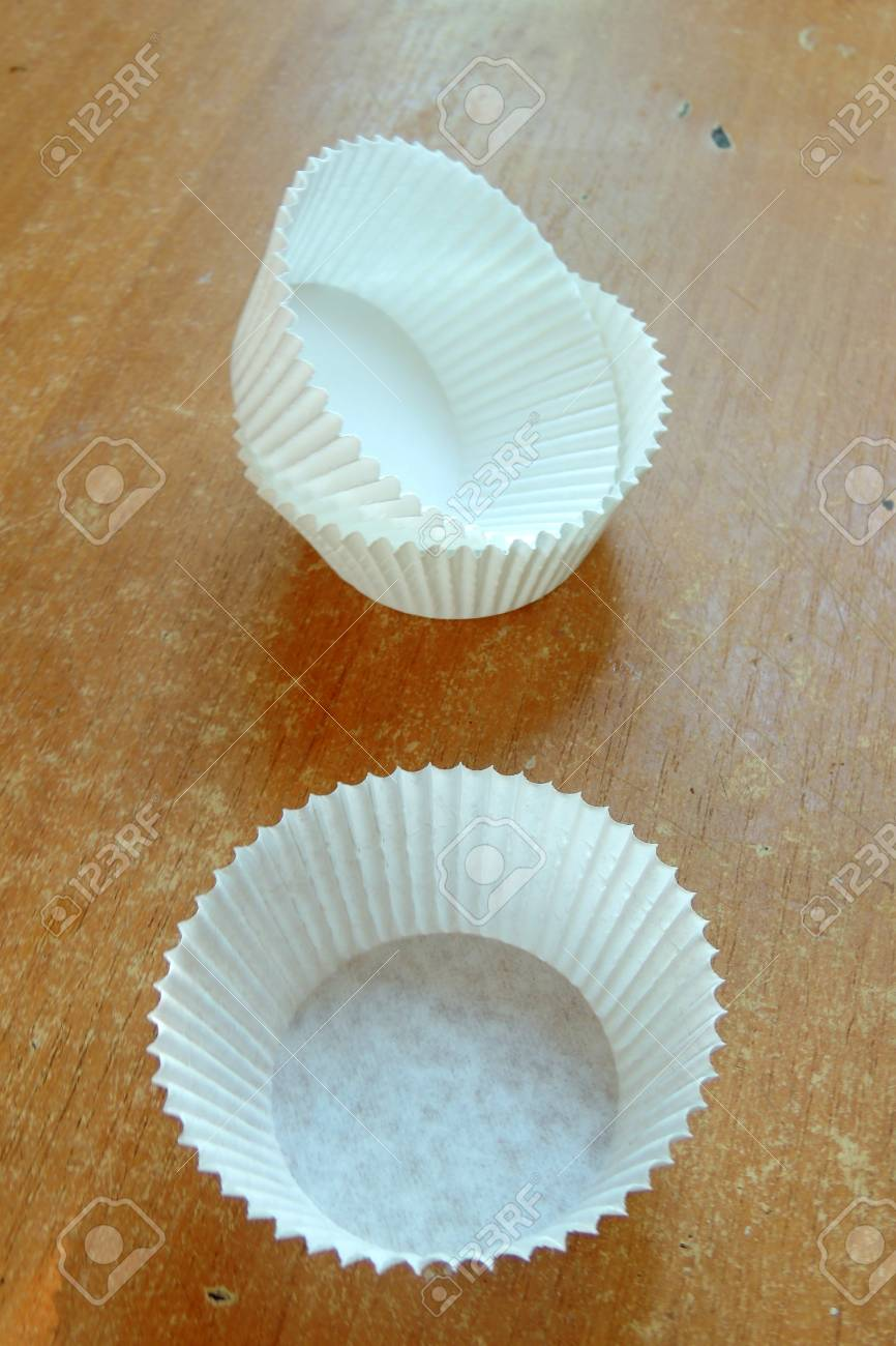 Group Of A White And Clean Cupcake Liners With Natural Light