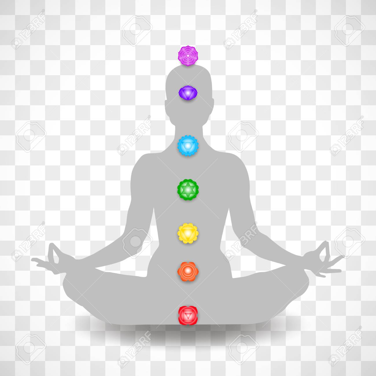 human body in yoga lotus asana and seven chakras symbols isolated royalty free cliparts vectors and stock illustration image 119809698 human body in yoga lotus asana and seven chakras symbols isolated