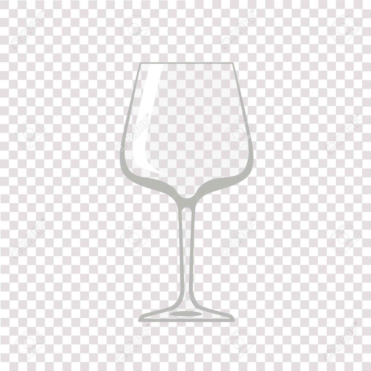 Wine glass. Transparent empty wine glass. Vector illustration - 131232197