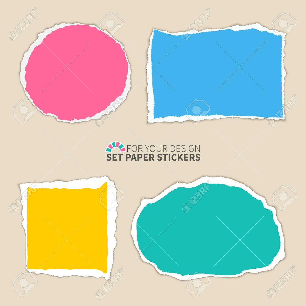 a set of colored paper scraps with teared edges torn paper banners rh 123rf com torn paper vector psd torn paper vector free