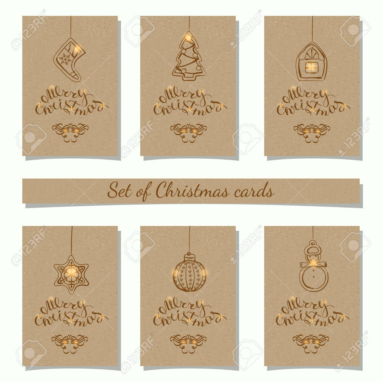 set of 6 Kraft Gift Tag