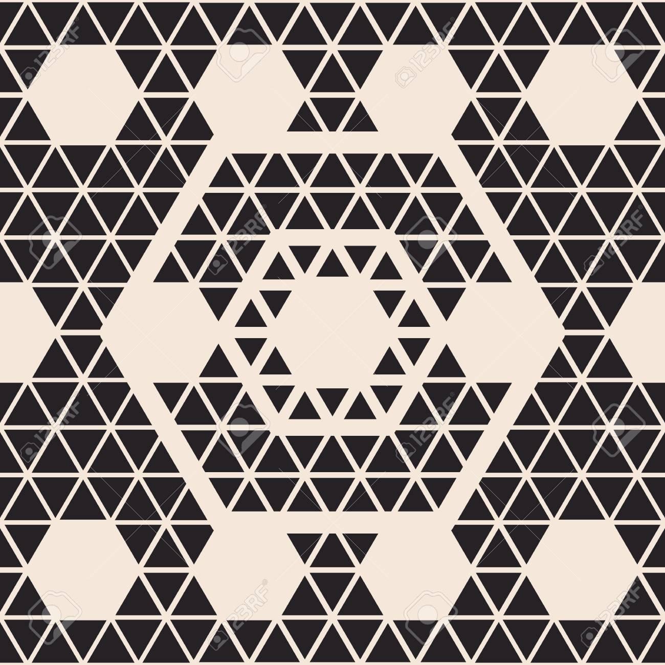 Patrón Transparente Geométrica Con Hexágono En Una Simple ...