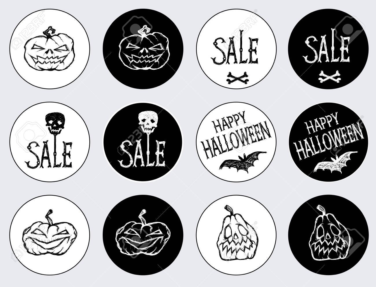 etiquetas para o feriado de halloween feliz dia das bruxas venda