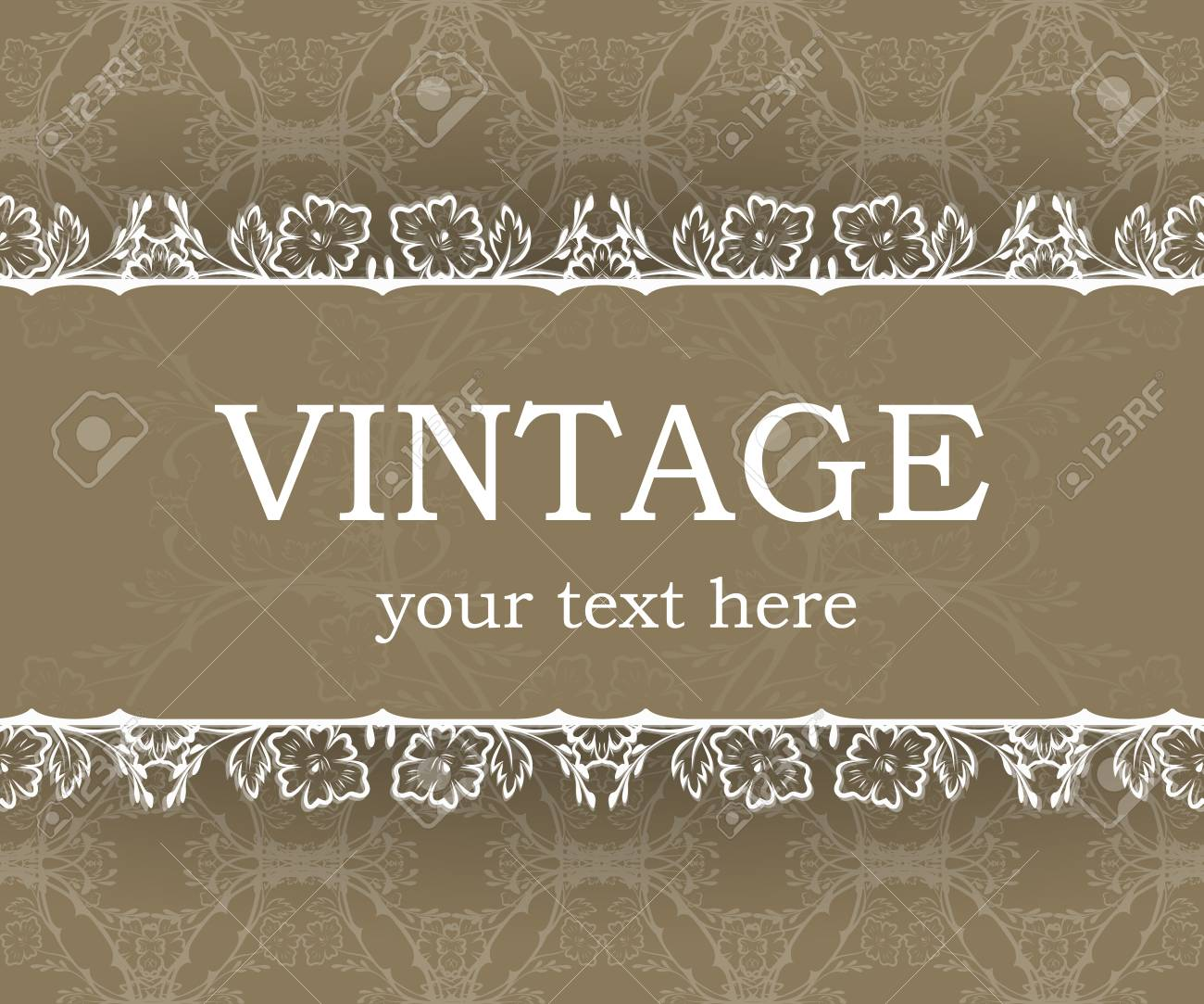 Vintage Background With Decorative Frame Elegant Design Element