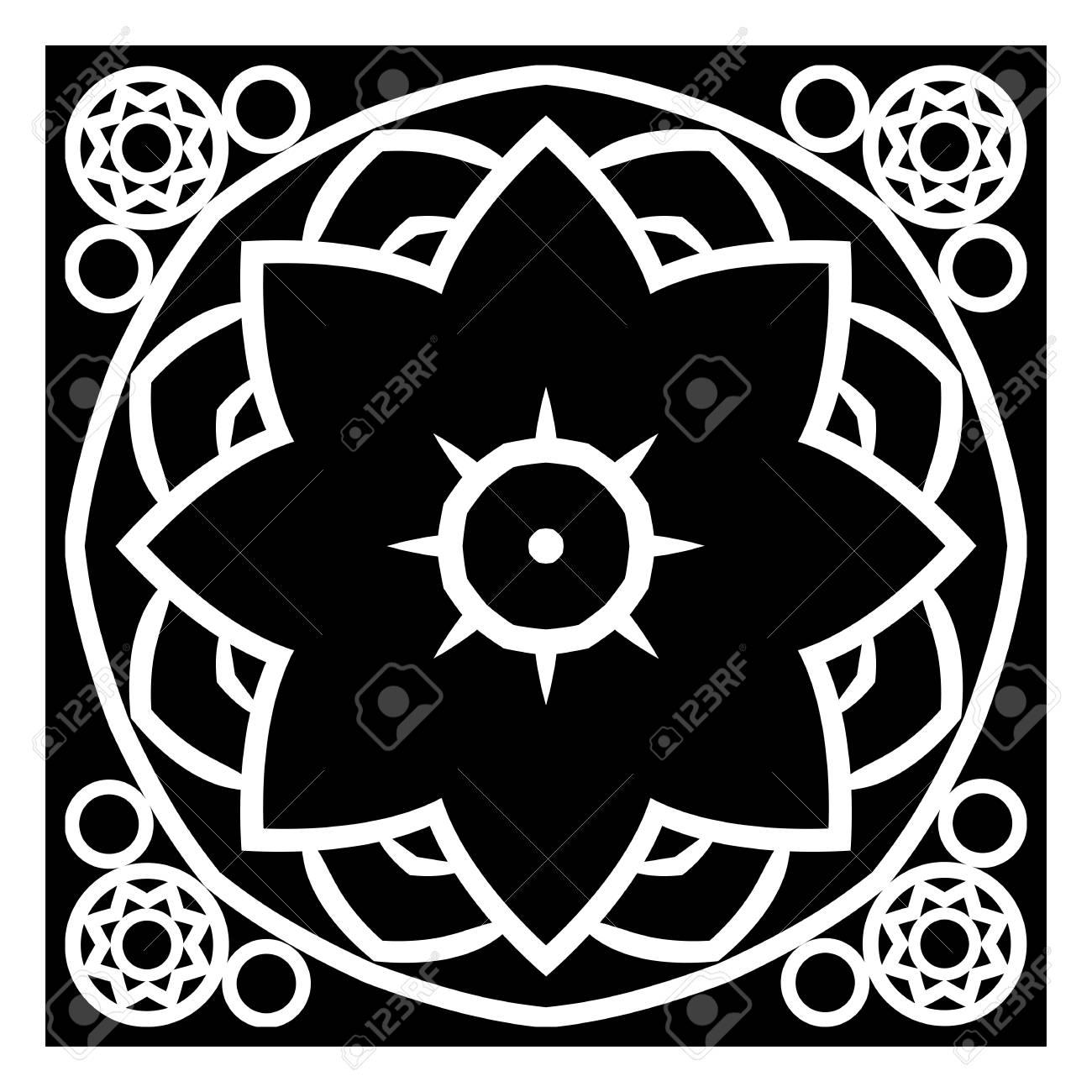 Dekoratives Element Für Das Design. Monochrome Druckt Geometrisches ...