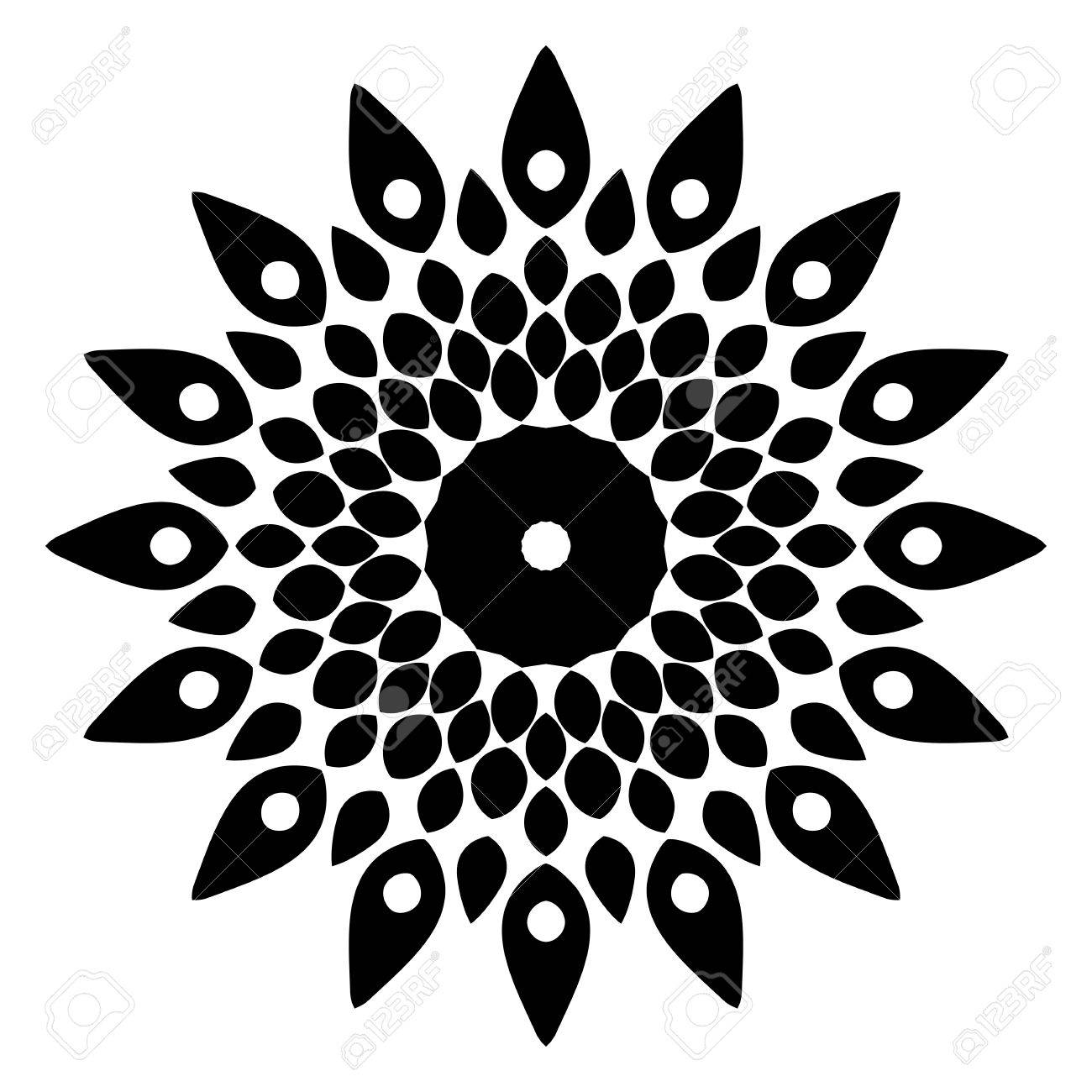 Circular Decorative Element For Design Of Textiles And Printed ...