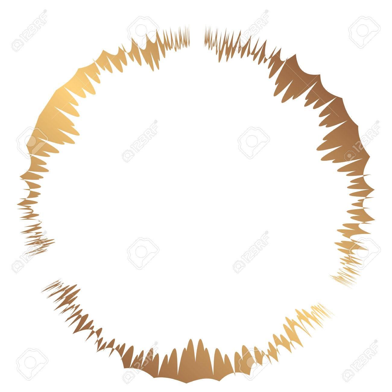 Abstrakter Runder Goldrahmen. Vorlage Zum Erstellen Von Symbolen ...