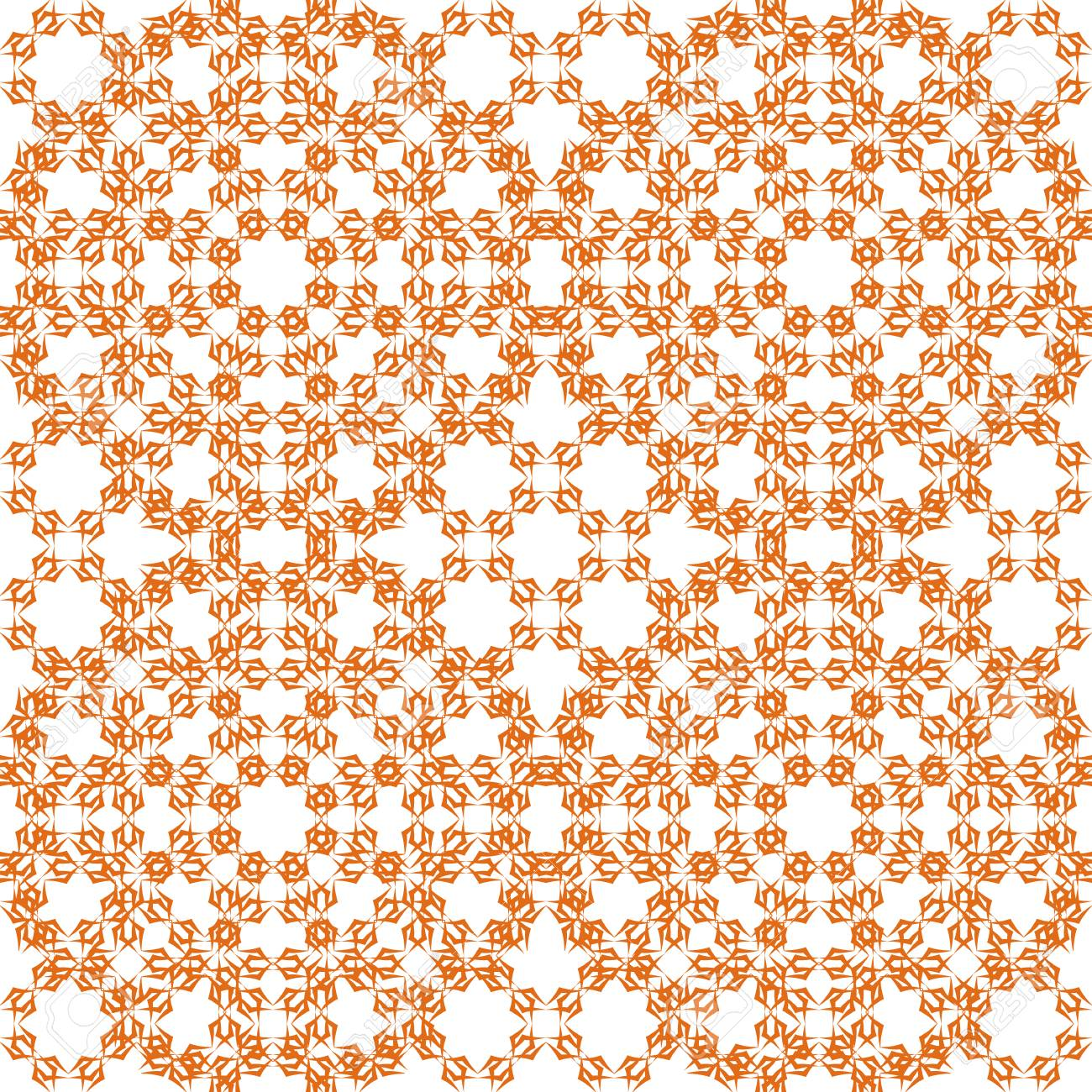 73904159 seamless color pattern with abstract geometric design retro wallpaper vintage white and orange seaml