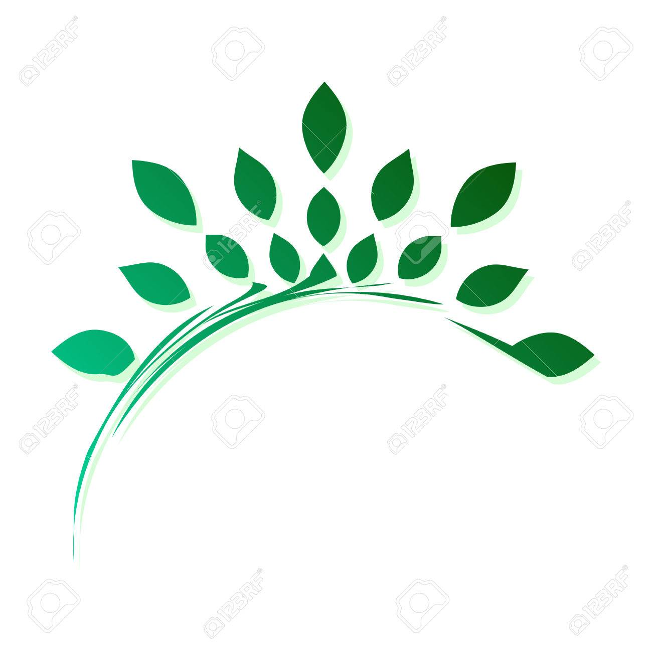 Template For Creating A Logo In The Form Of A Stylized Branch ...