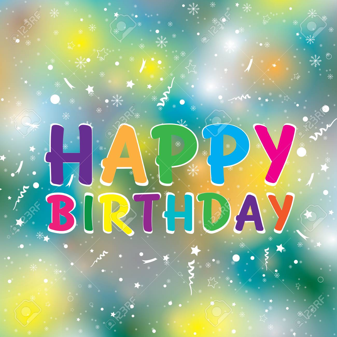 Joyeux Anniversaire Sur Fond Colore Bon Anniversaire Clip Art Libres De Droits Vecteurs Et Illustration Image 58230820