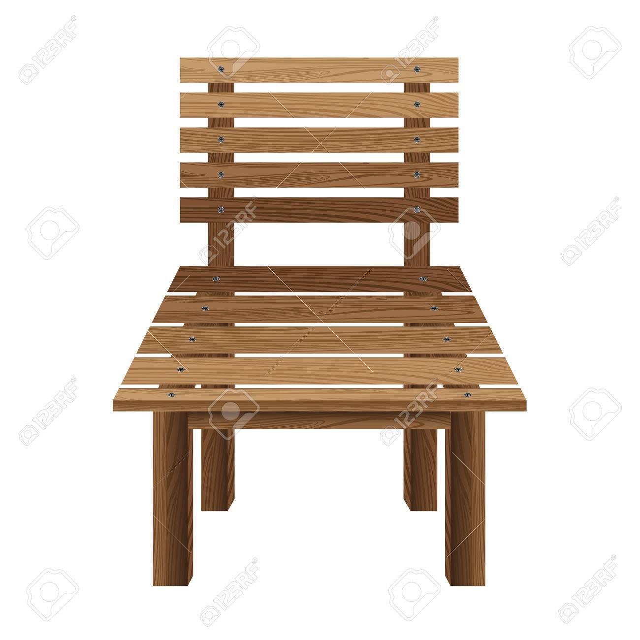 Sedie di legno su uno sfondo bianco. Mobili di legno.