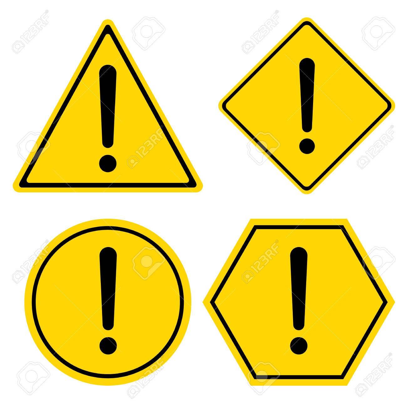 Hazard warning sign triangle hexagon square and circle symbol triangle hexagon square and circle symbol isolated on white background stock buycottarizona