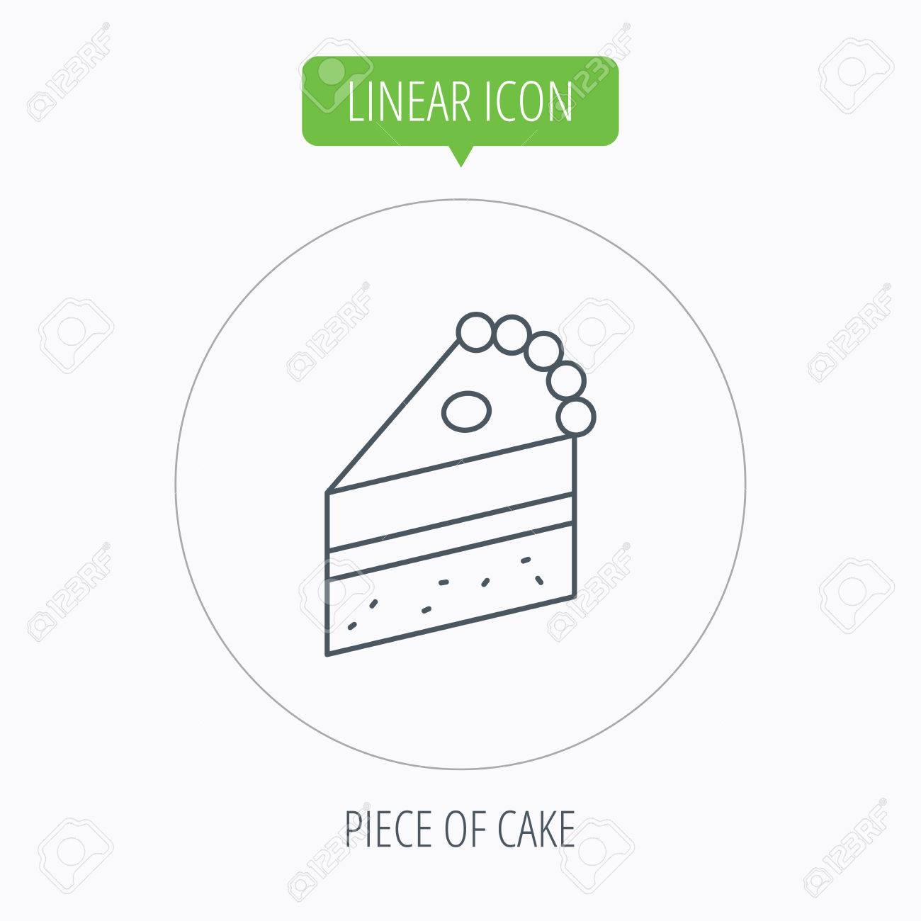 Piece of cake icon sweet dessert sign pastry food symbol linear piece of cake icon sweet dessert sign pastry food symbol linear outline circle buycottarizona