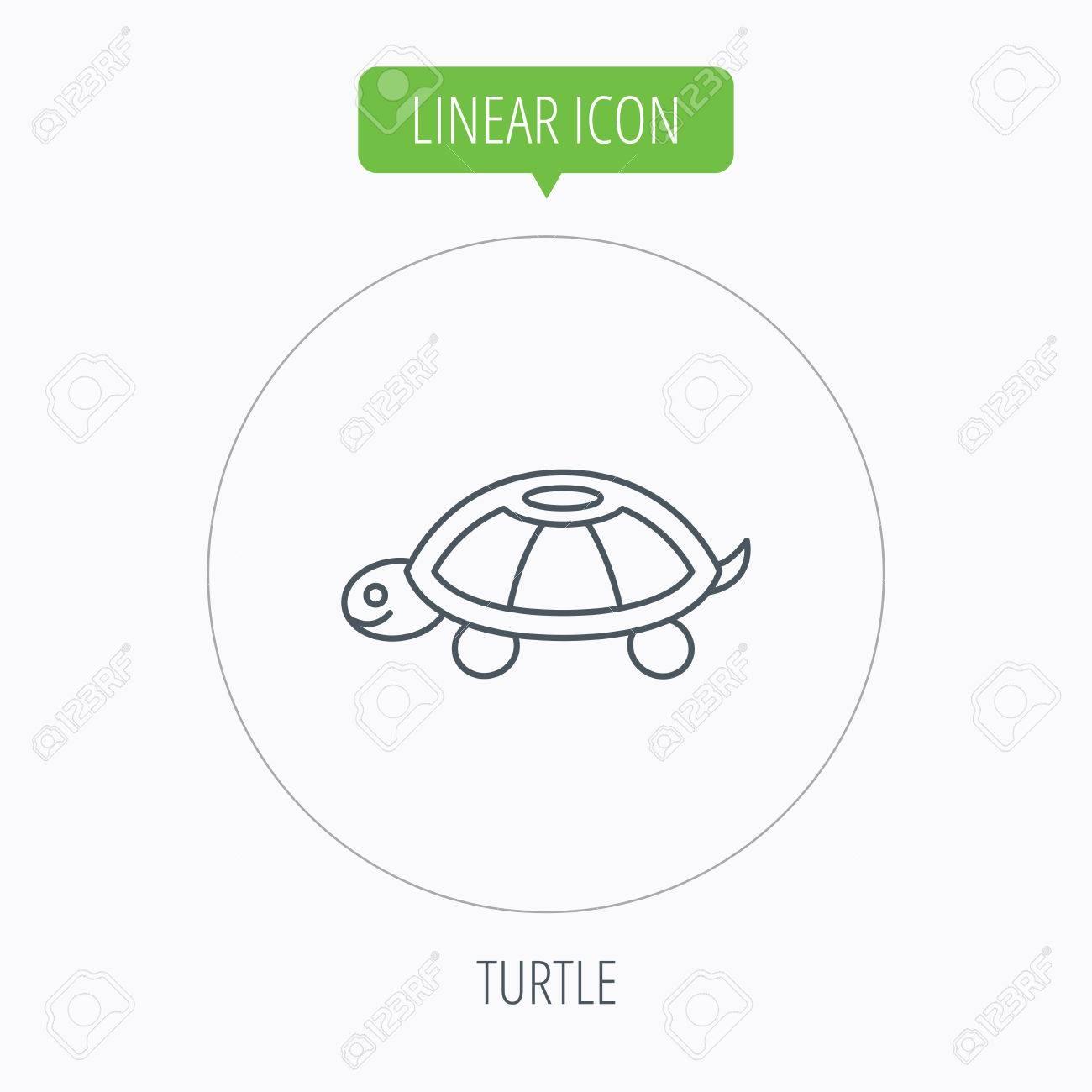 Turtle icon tortoise sign tortoiseshell symbol linear outline turtle icon tortoise sign tortoiseshell symbol linear outline circle button vector stock biocorpaavc