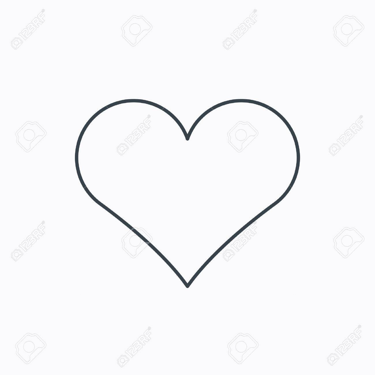Heart Icon Love Sign Life Symbol Linear Outline Icon On White