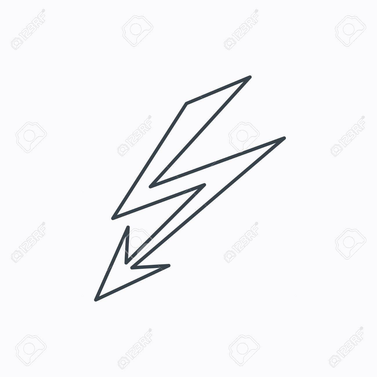 Lightening Bolt Icon. Power Supply Sign. Electricity Symbol ...