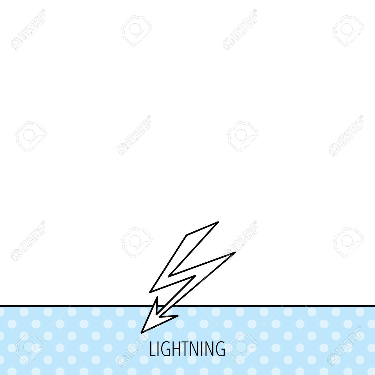 Lightening Bolt Icon Power Supply Sign Electricity Symbol