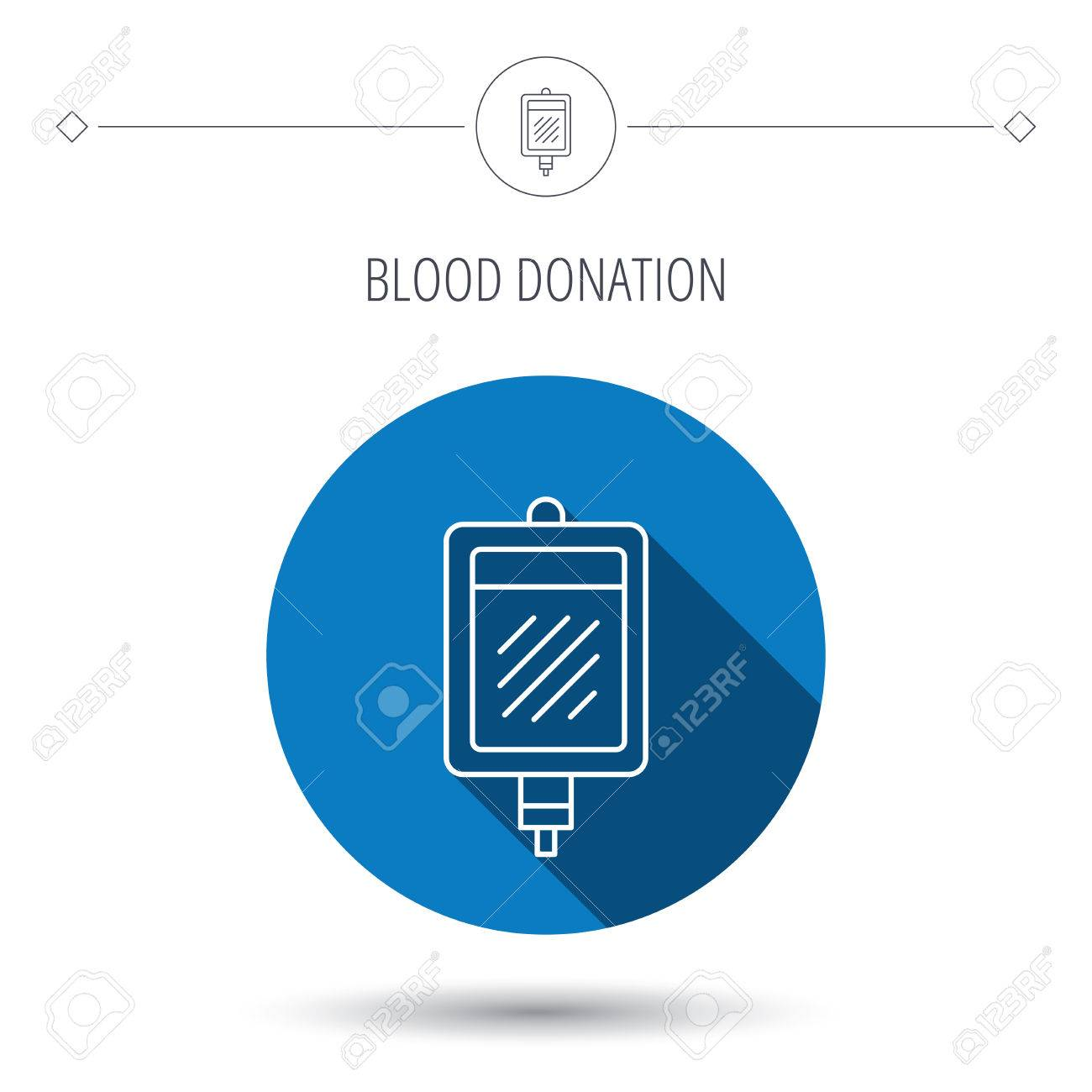 blood donation icon medicine drop counter sign blue flat circle