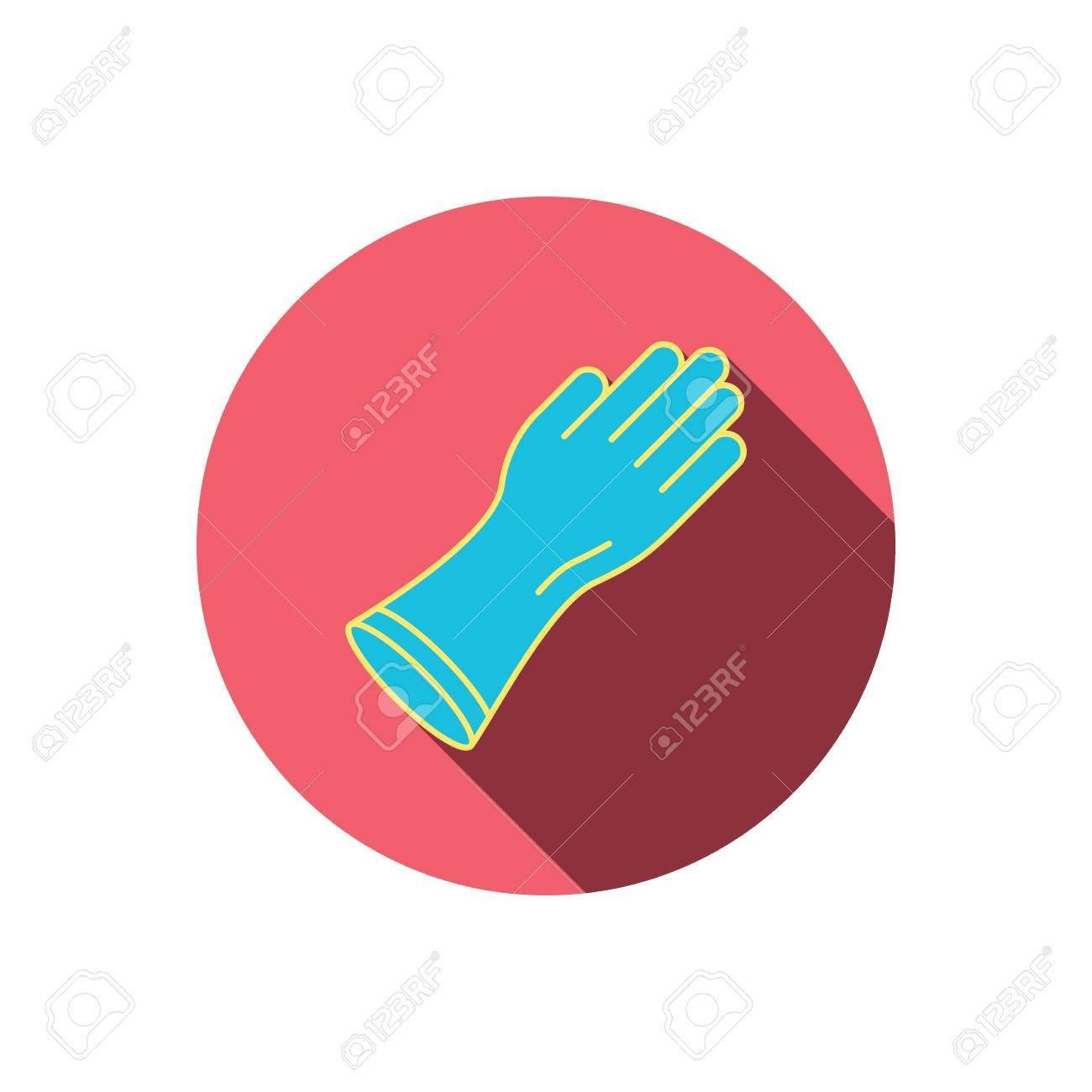 Rubber gloves icon latex hand protection sign housework cleaning vector rubber gloves icon latex hand protection sign housework cleaning equipment symbol red flat biocorpaavc