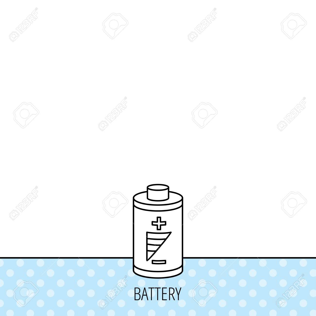 Battery Icon. Electrical Power Sign. Rechargeable Energy Symbol ...
