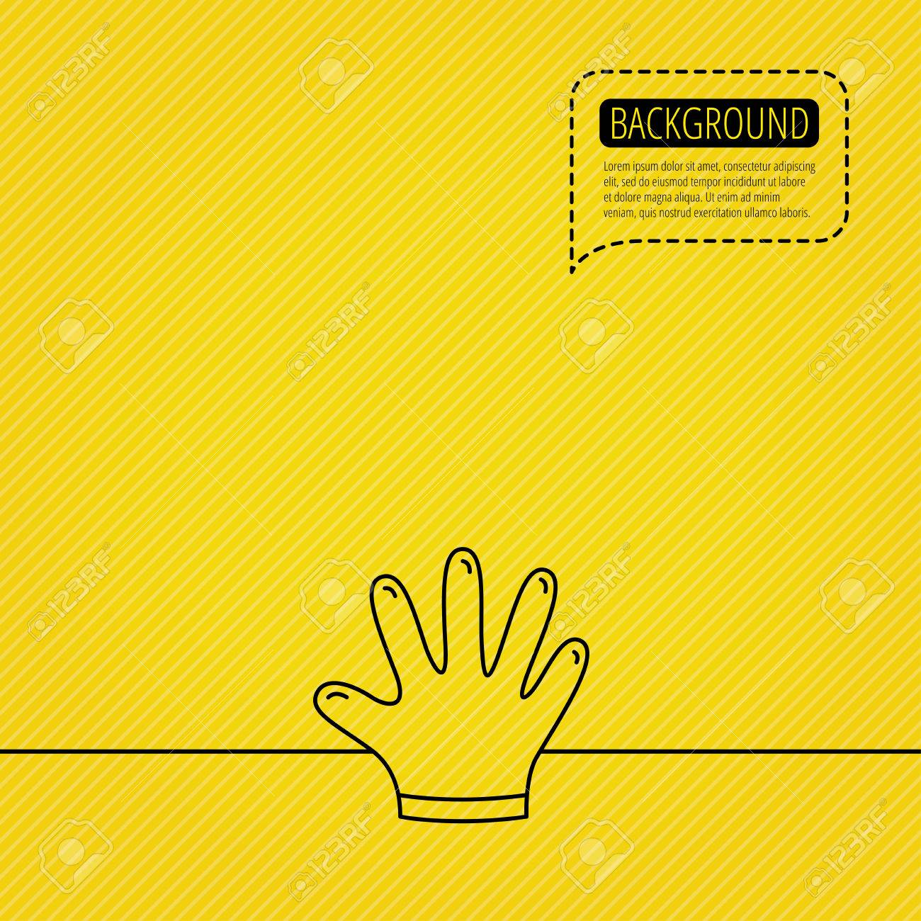 Rubber gloves icon latex hand protection sign housework cleaning vector rubber gloves icon latex hand protection sign housework cleaning equipment symbol speech bubble biocorpaavc
