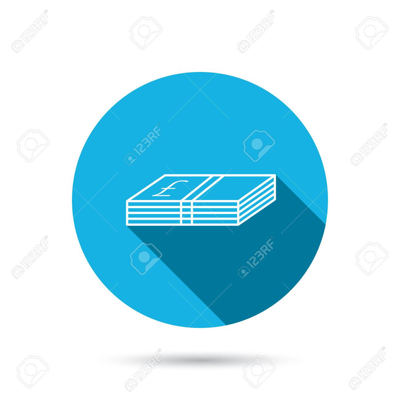 Cash icon pound money sign gbp currency symbol blue flat circle pound money sign gbp currency symbol blue flat circle button with buycottarizona Choice Image
