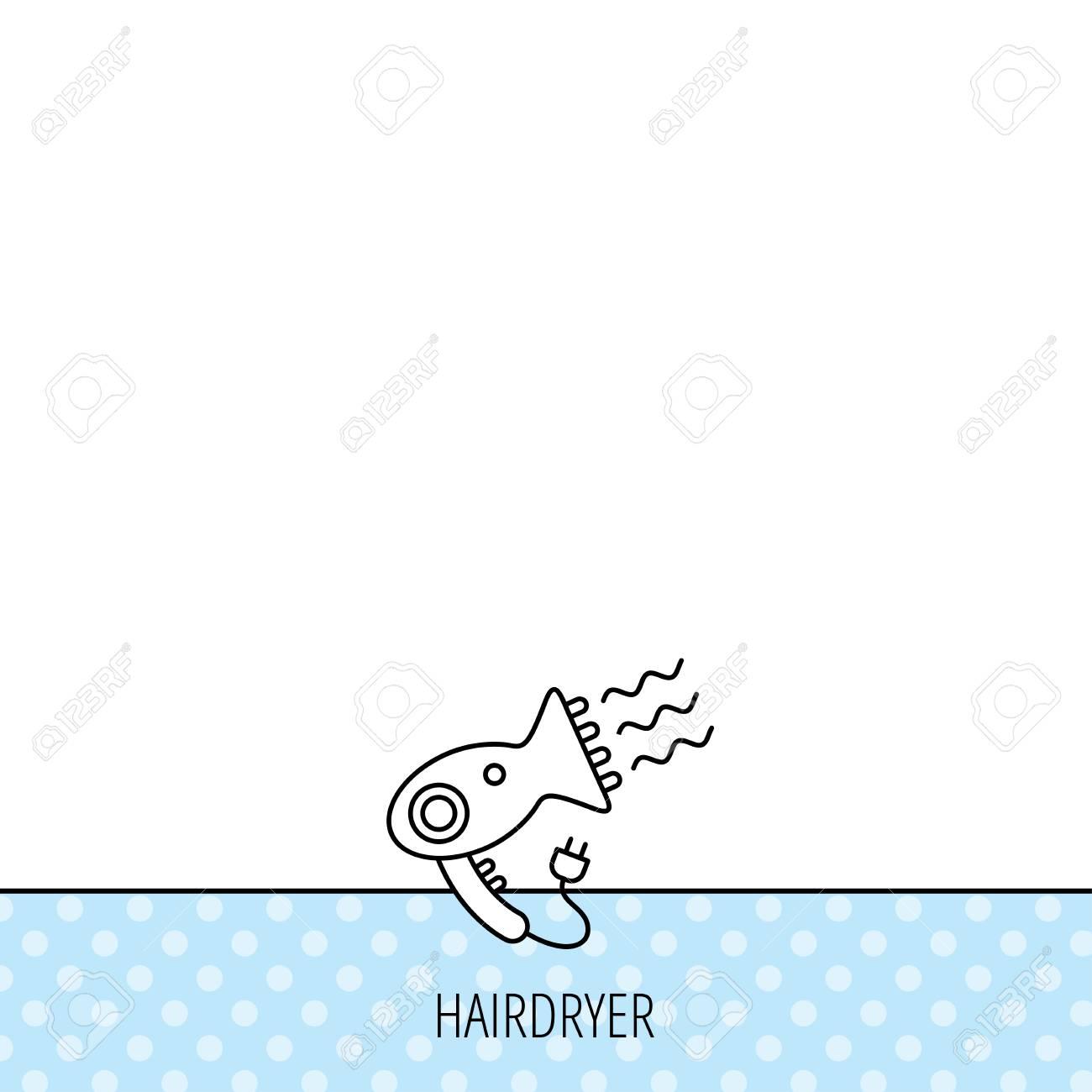 Haartrockner Symbol. Elektronische Blowdryer Zeichen. Friseur ...