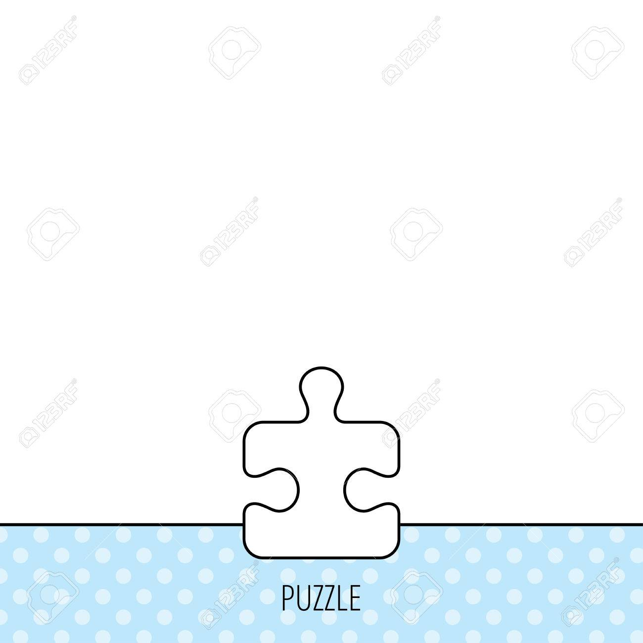 Puzzle Icon Jigsaw Logical Game Sign Boardgame Piece Symbol