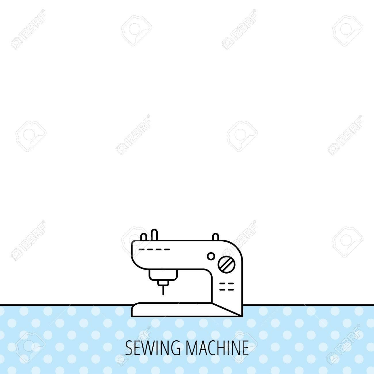 Icono de la máquina de coser. signo de bordado. Círculos sin patrón. Fondo  con el icono. Vector