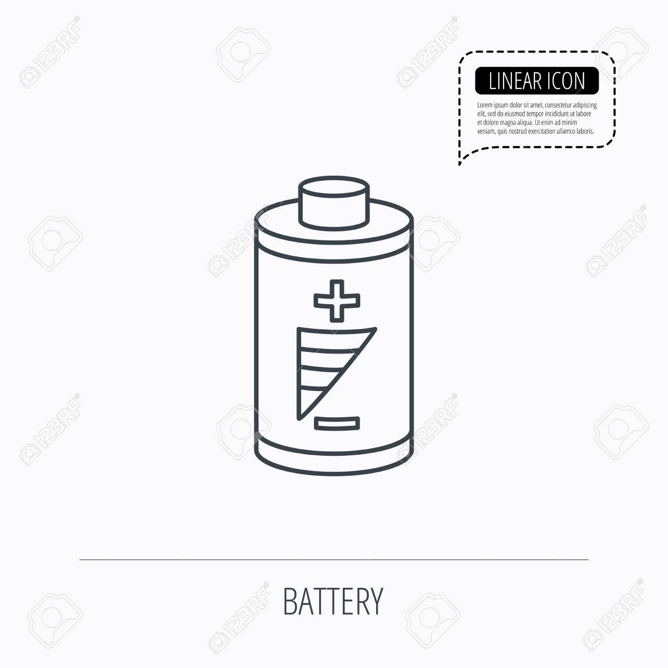 Batterie-Symbol. Elektrische Leistung Zeichen. Wiederaufladbare ...