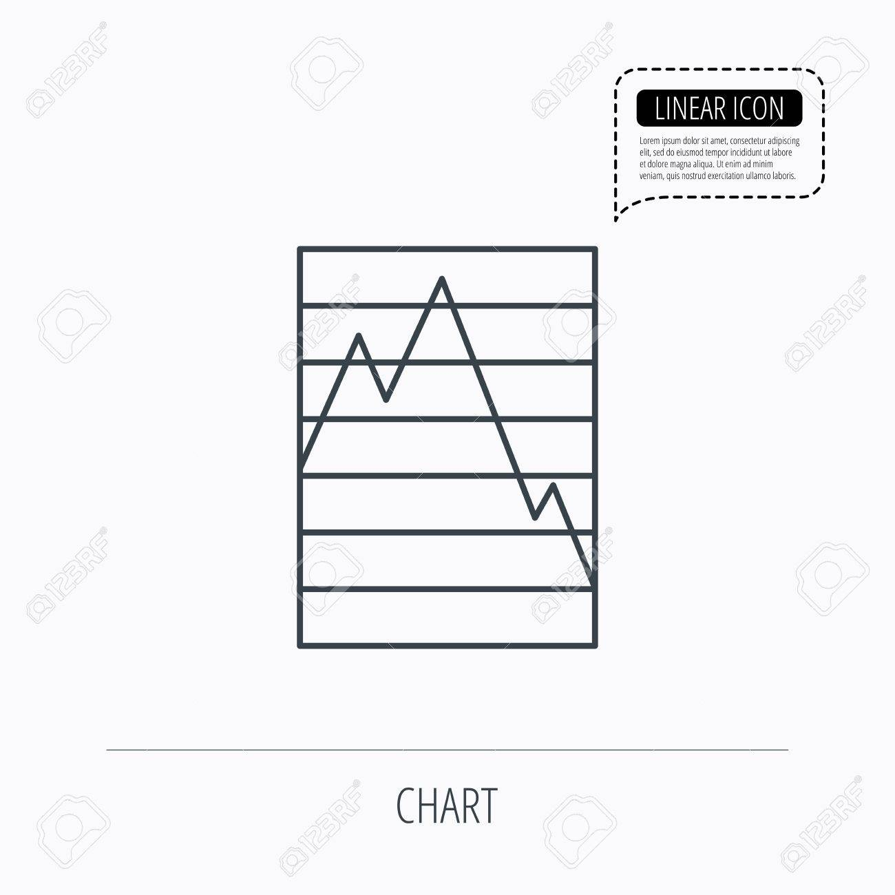 Chart curve icon graph diagram sign demand reduction symbol chart curve icon graph diagram sign demand reduction symbol linear outline icon geenschuldenfo Gallery