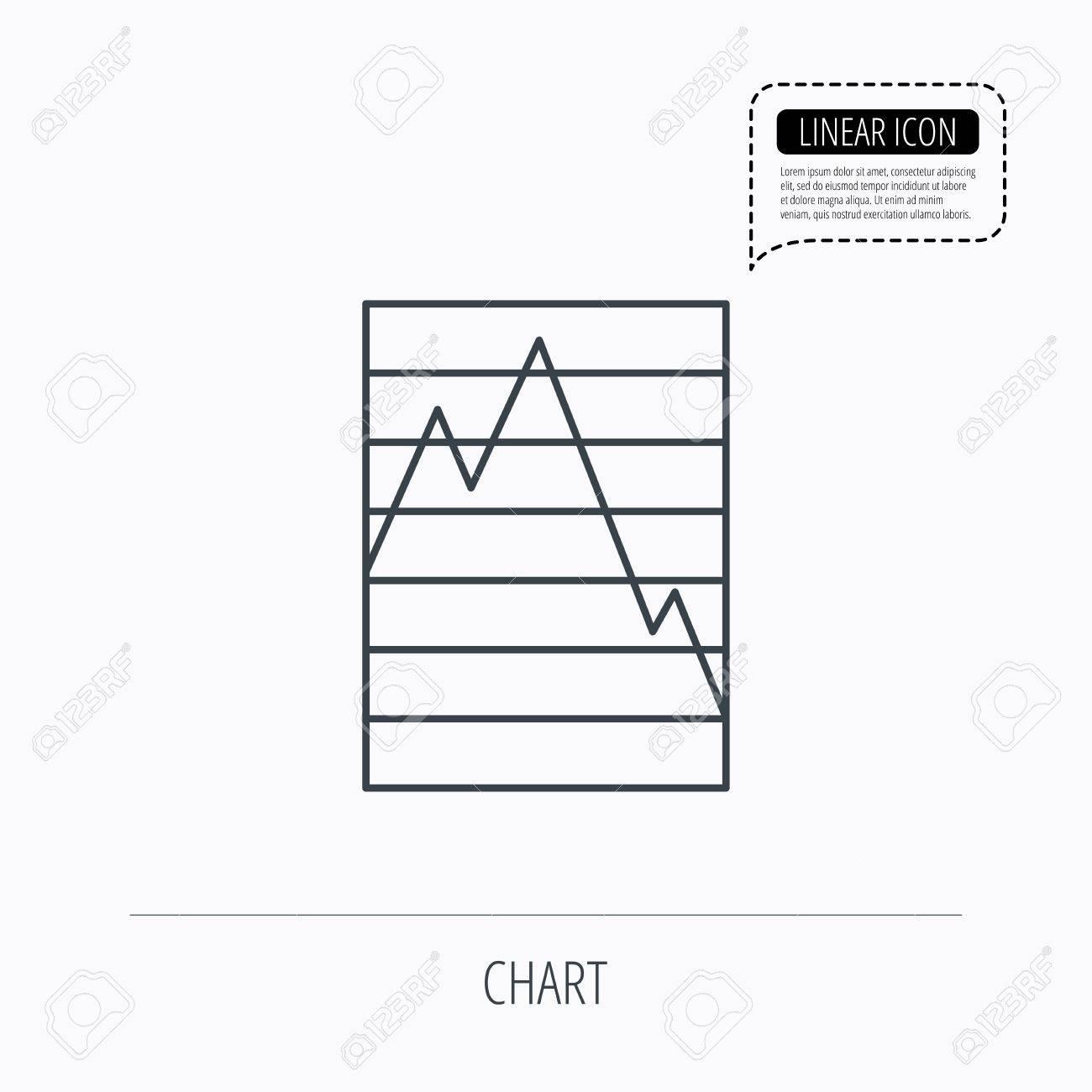 Chart curve icon graph diagram sign demand reduction symbol chart curve icon graph diagram sign demand reduction symbol linear outline icon ccuart Choice Image
