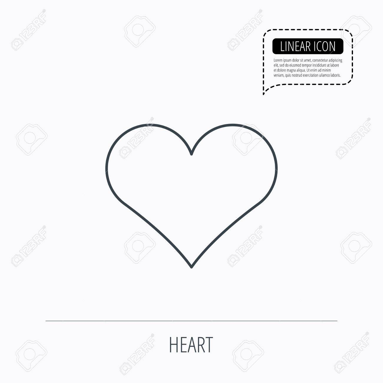Heart Icon Love Sign Life Symbol Linear Outline Icon Speech