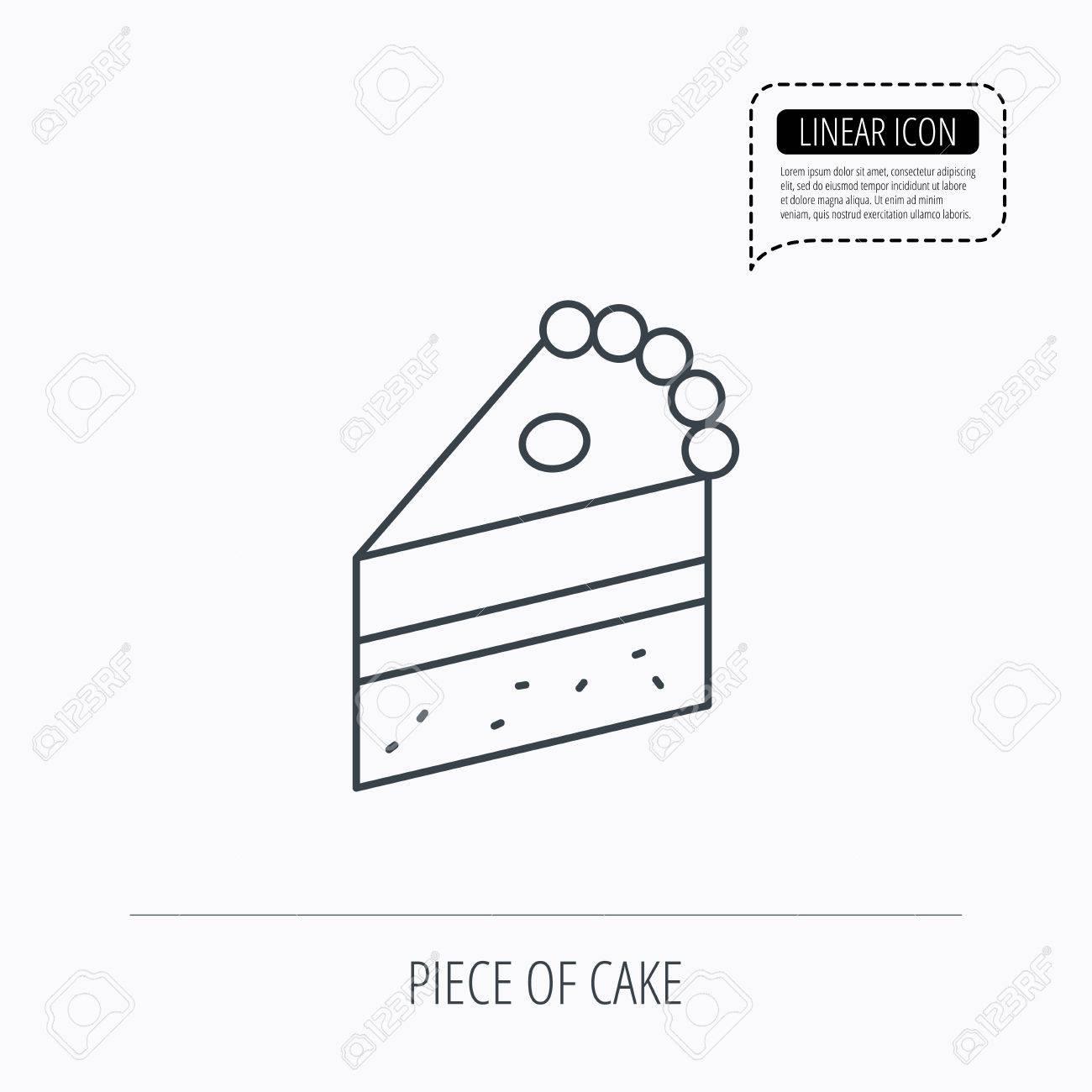 Dotted Line Drawing Cake Wiring Diagrams Seriesresonantpowersupply Powersupplycircuit Circuit Diagram Piece Of Icon Sweet Dessert Sign Pastry Food Symbol Linear Rh 123rf Com