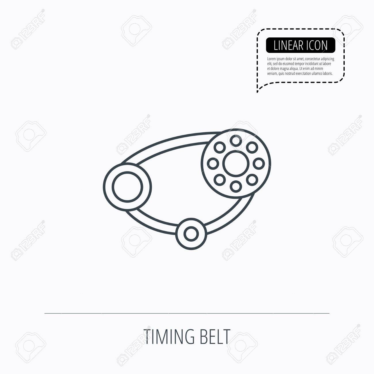Timing Belt Icon. Generator Strap Sign. Repair Service Symbol ...