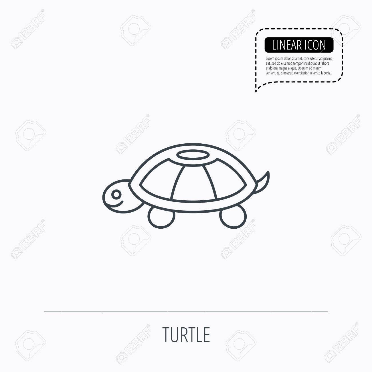 Turtle icon tortoise sign tortoiseshell symbol linear outline turtle icon tortoise sign tortoiseshell symbol linear outline icon speech bubble of biocorpaavc