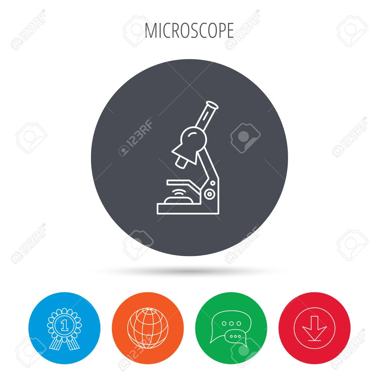 Microscope icon medical laboratory equipment sign pathology microscope icon medical laboratory equipment sign pathology or scientific symbol globe download ccuart Gallery