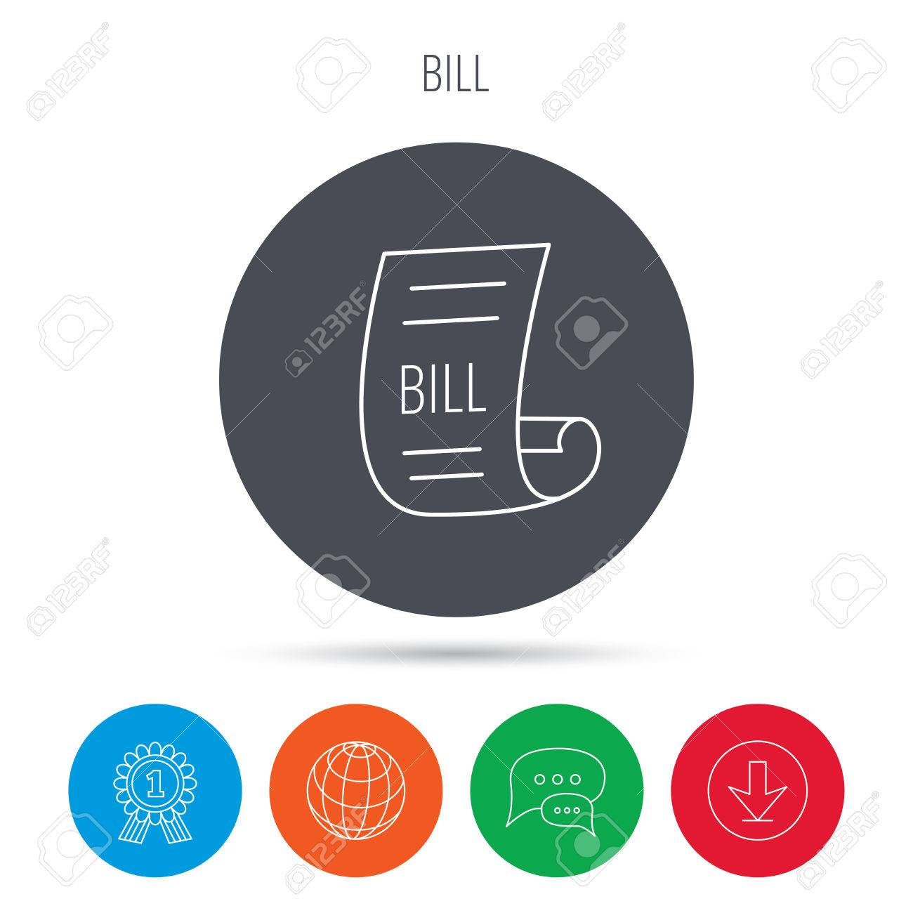 Calculator With Receipt Excel Bill Icon Pay Document Sign Business Invoice Or Receipt Symbol  Honda Crv Invoice Pdf with Reconcile Invoices Pdf Pay Document Sign Business Invoice Or Receipt Symbol Globe Download Student Fee Receipt Format Pdf