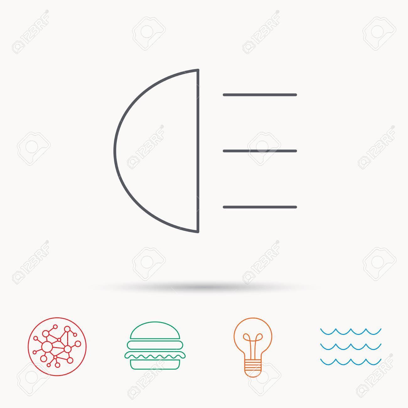 Fernlicht Symbol Distant Licht Auto Zeichen Global Connect