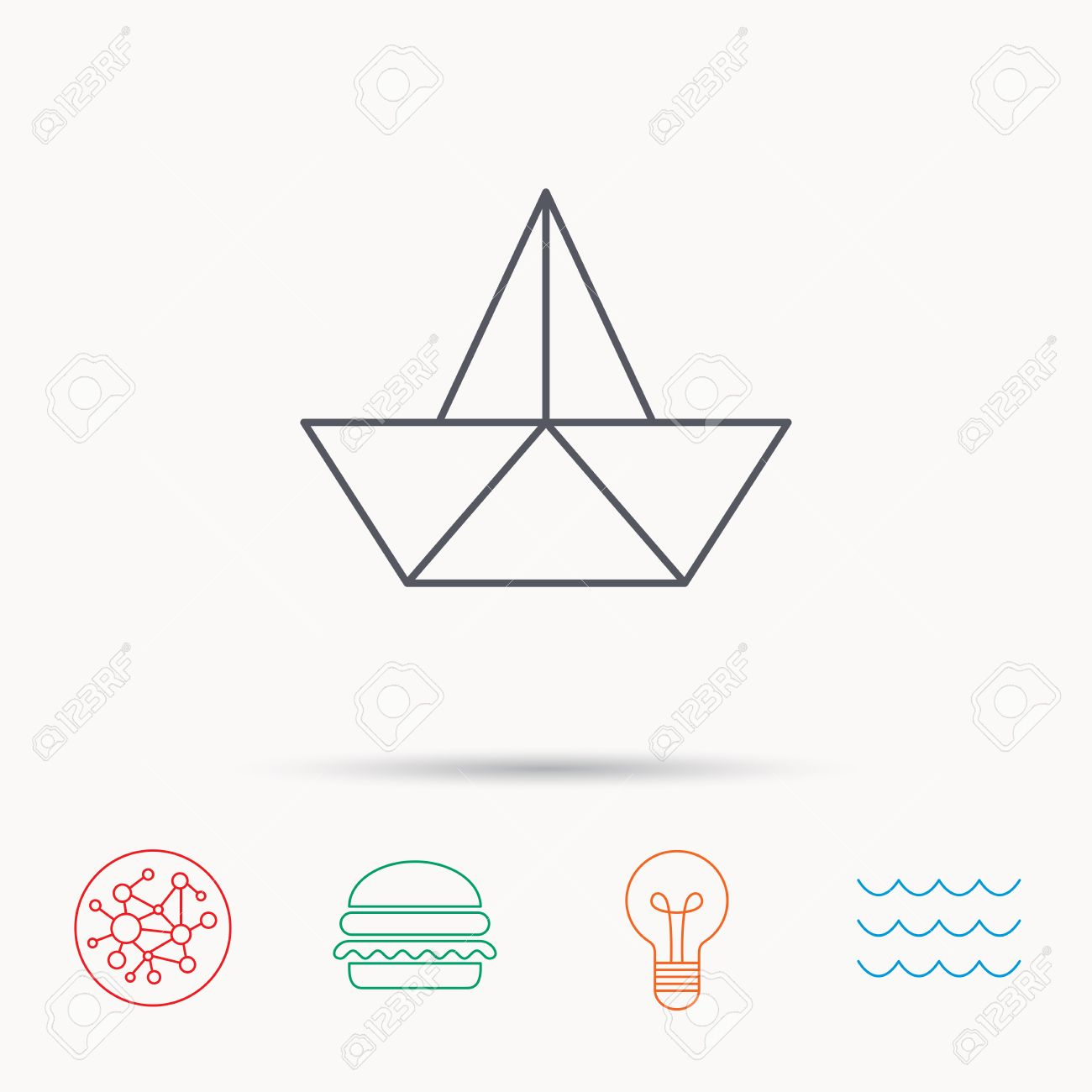 Paper boat icon origami ship sign sailing symbol global connect paper boat icon origami ship sign sailing symbol global connect network ocean buycottarizona
