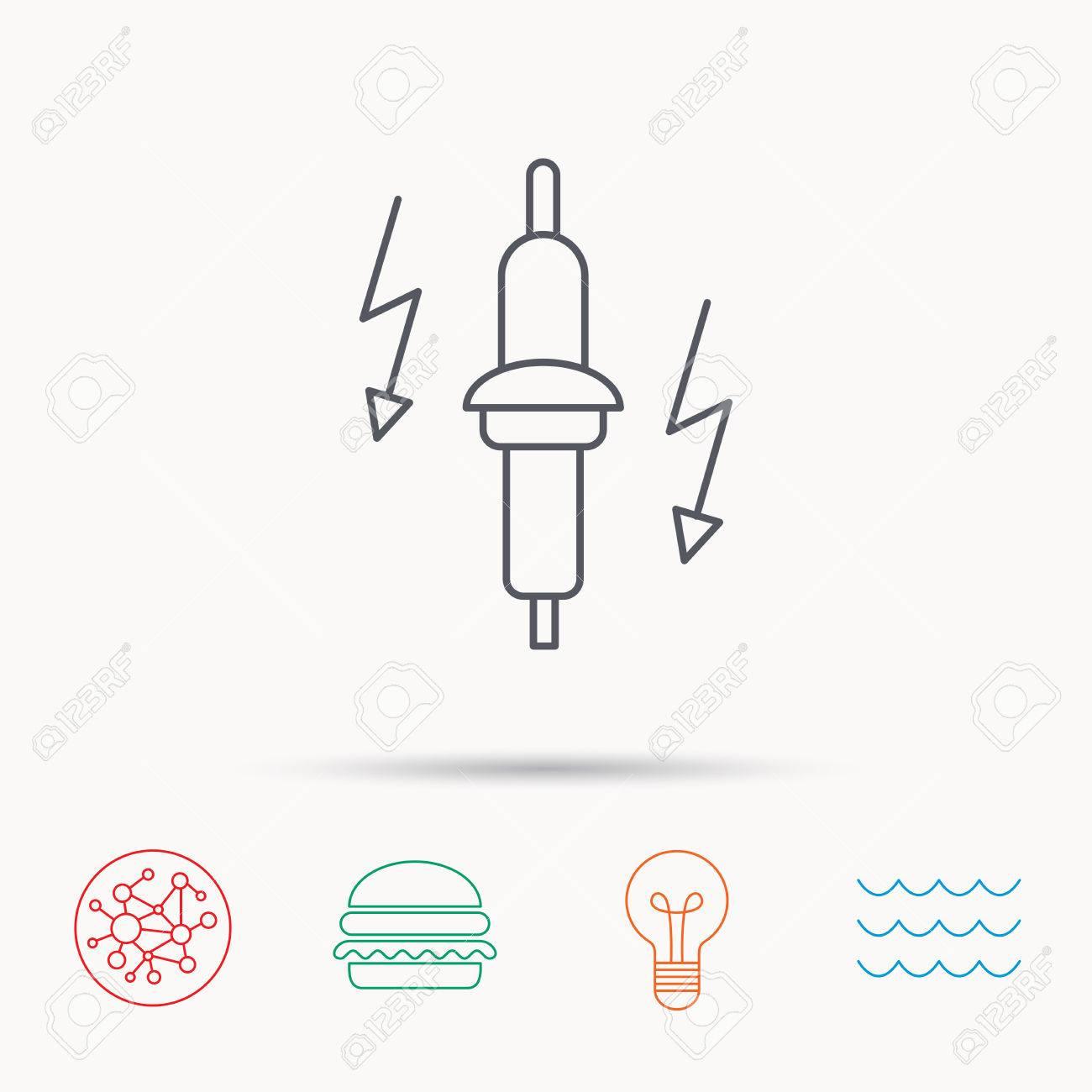Zundkerze Symbol Auto Elektrische Teil Zeichen Global Connect