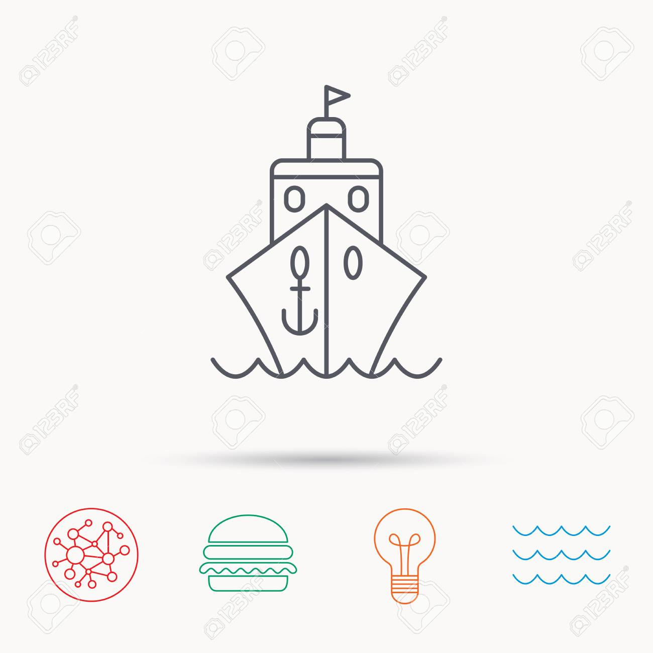 Cruise icon ship travel sign shipping delivery symbol global ship travel sign shipping delivery symbol global connect network ocean buycottarizona