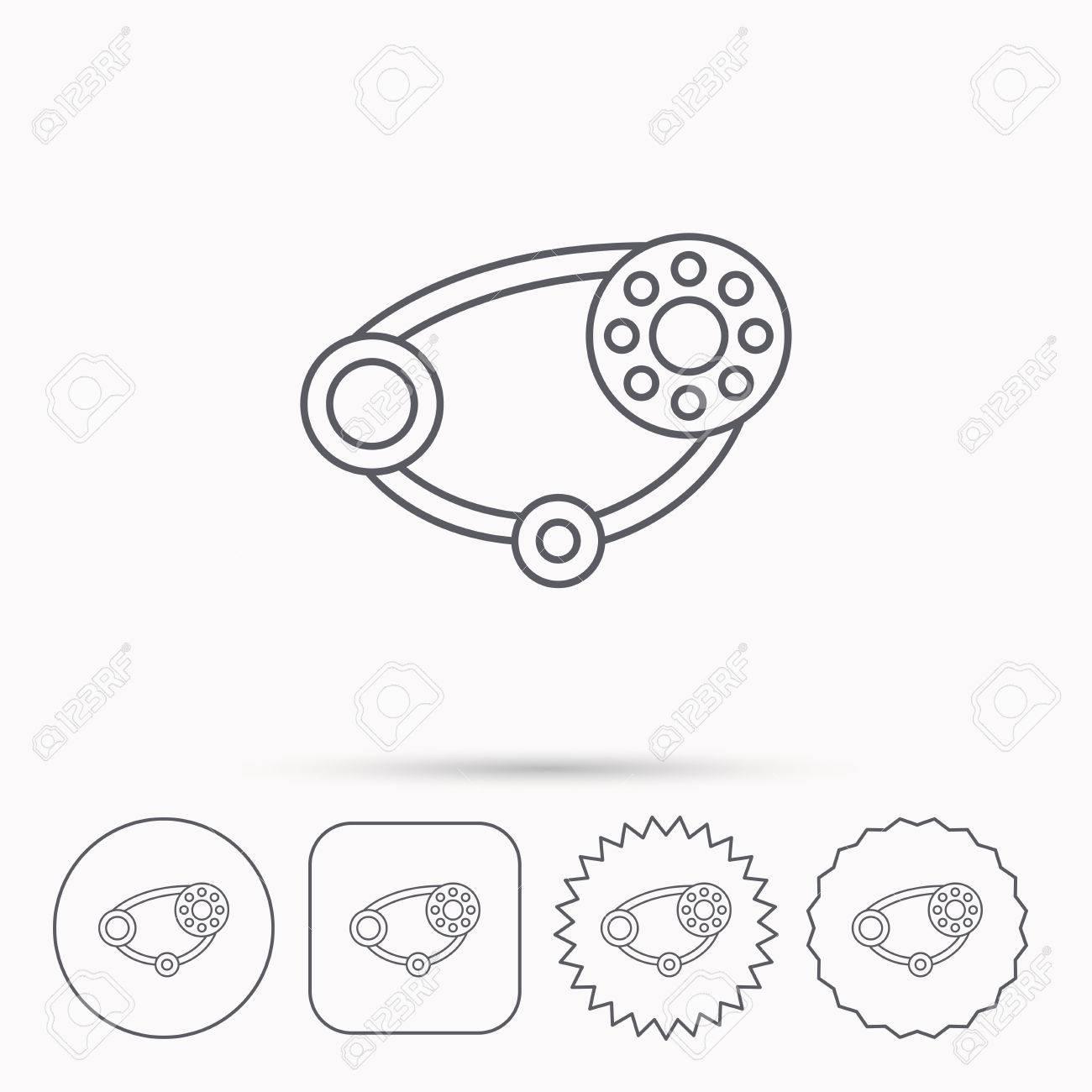 Timing Belt Icon Generator Strap Sign Repair Service Symbol