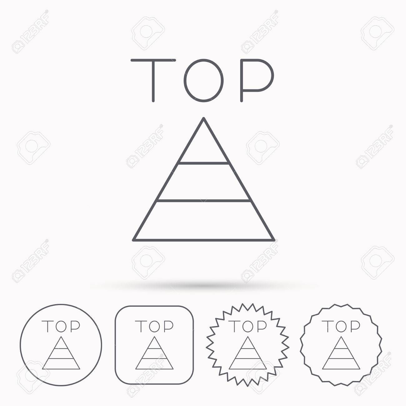 Triangle Icon Top Or Best Result Sign Success Symbol Linear