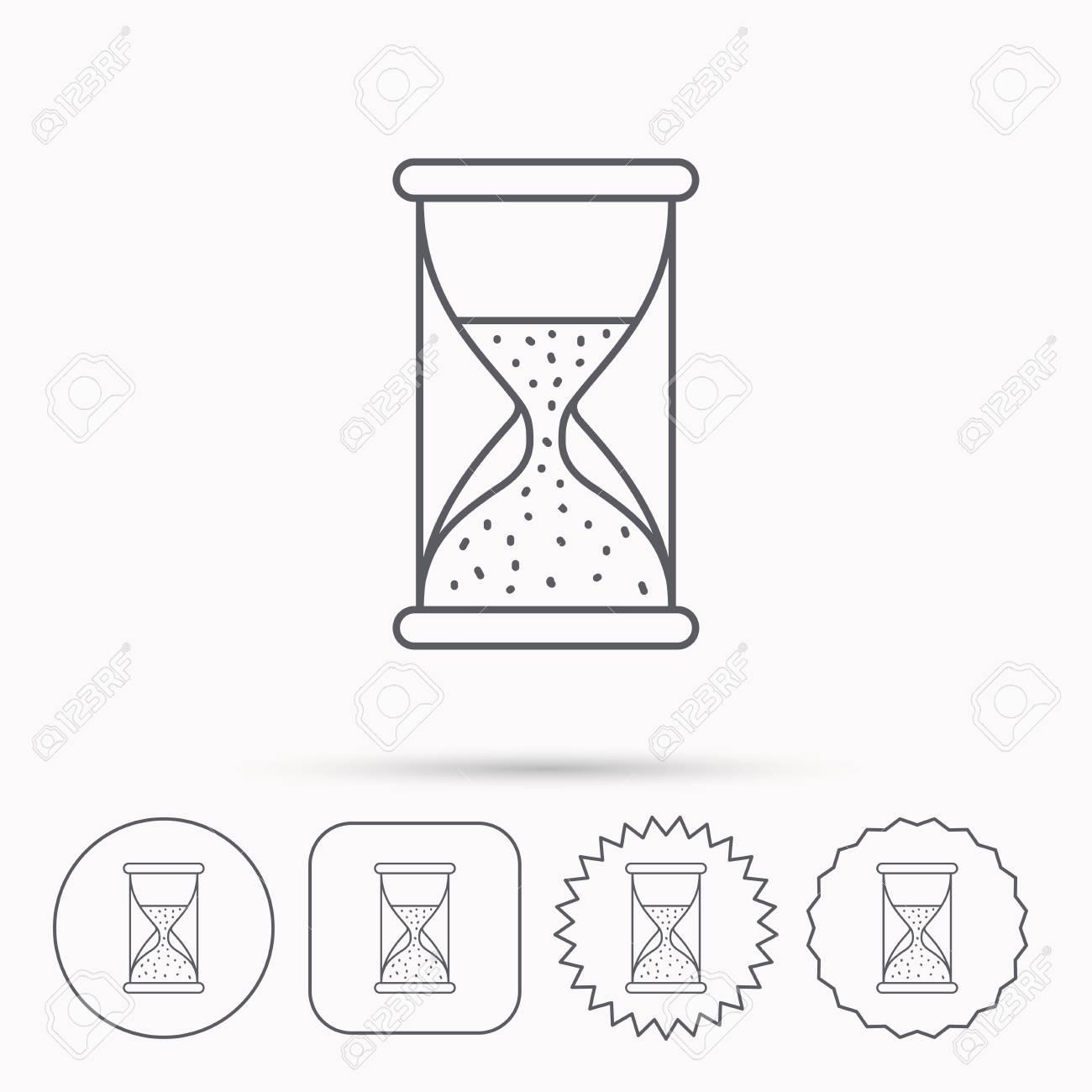 Hourglass icon sand time sign half an hour symbol linear circle hourglass icon sand time sign half an hour symbol linear circle square buycottarizona Choice Image